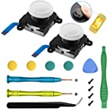 2-Pack Joystick Replacement Analog Thumb Stick for Nintendo Switch Lite - Include Tri-Wing, Cross Screwdriver, Pry Tools + 4
