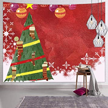 Hexagram Christmas Decorations Tapestry Xmas Snowflake Decor Funny Tapestries Wall Hanging For Bedroom Living Room Dorm