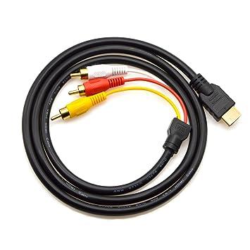 HDMI a RCA Cable, chenduomi 5 ft/1,5 m HDMI macho a