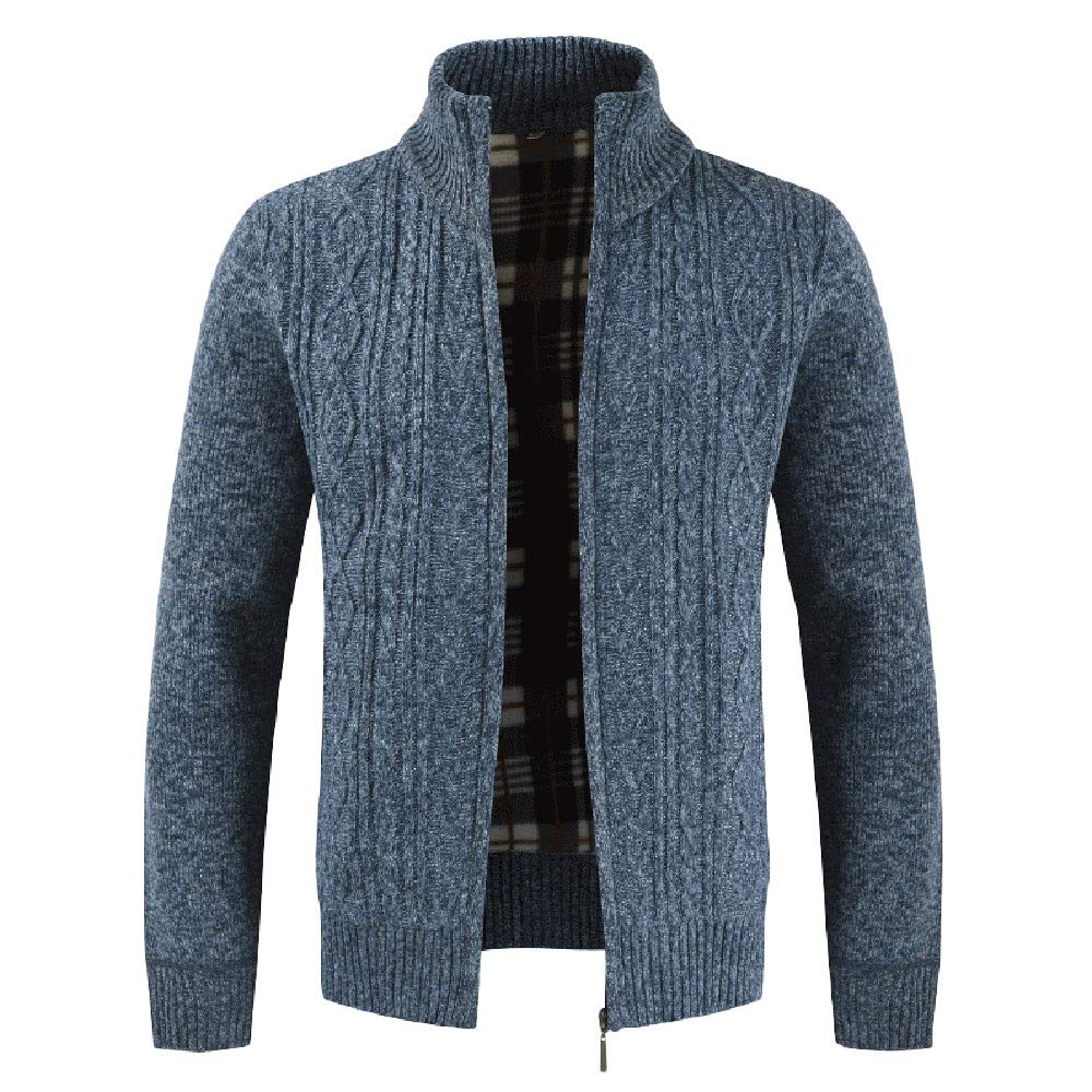 G-Real Men's Classic Long Sleeve Full Zip up Fleece Knitted Cardigan Sweaters by G-real Men Outfits