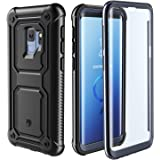 Samsung Galaxy S9 Case - Full Body Case with Built-in Touch Sensitive Anti-Scratch Screen Protector, Heavy Duty Shock Drop Proof Protection Support Wireless Charging Black/Grey