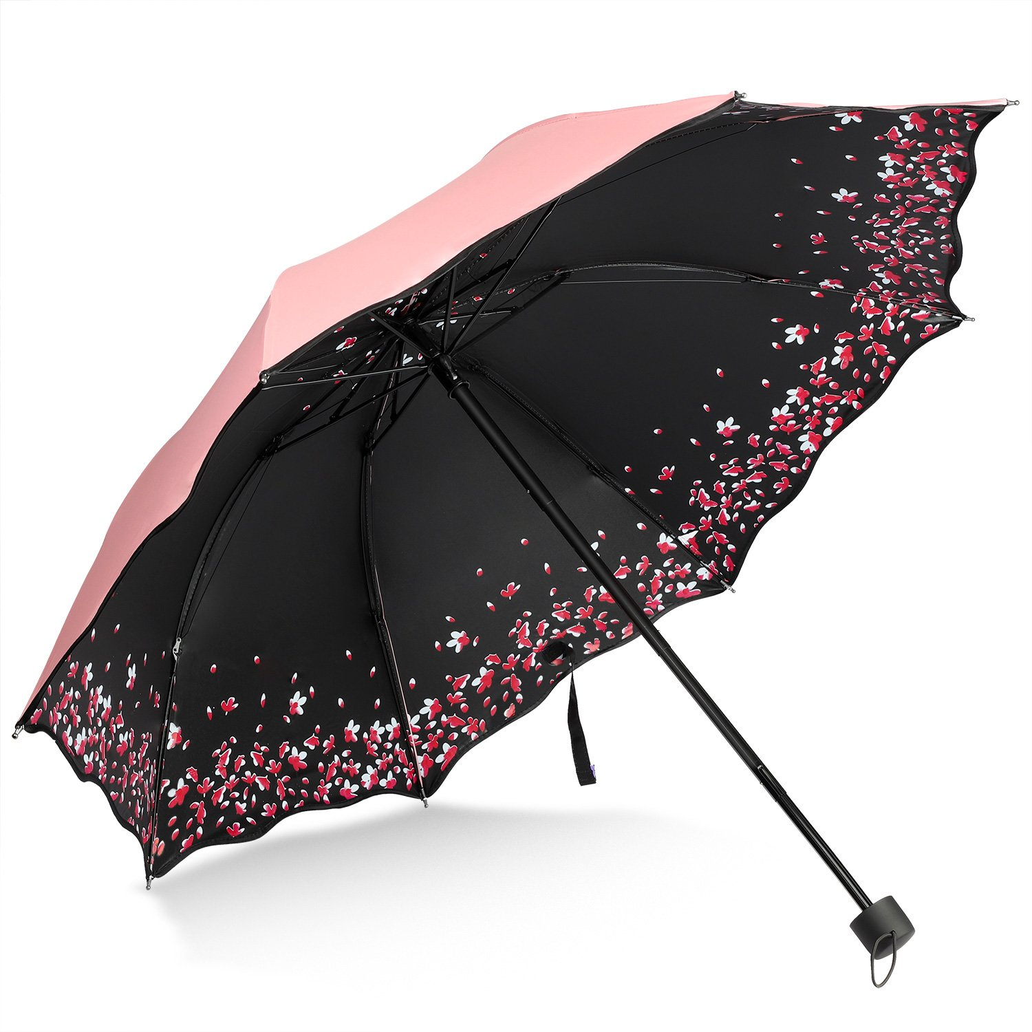 Sakura Umbrella-Windproof Anti UV Rain/Sun, Cherry Blossom Folding Umbrella