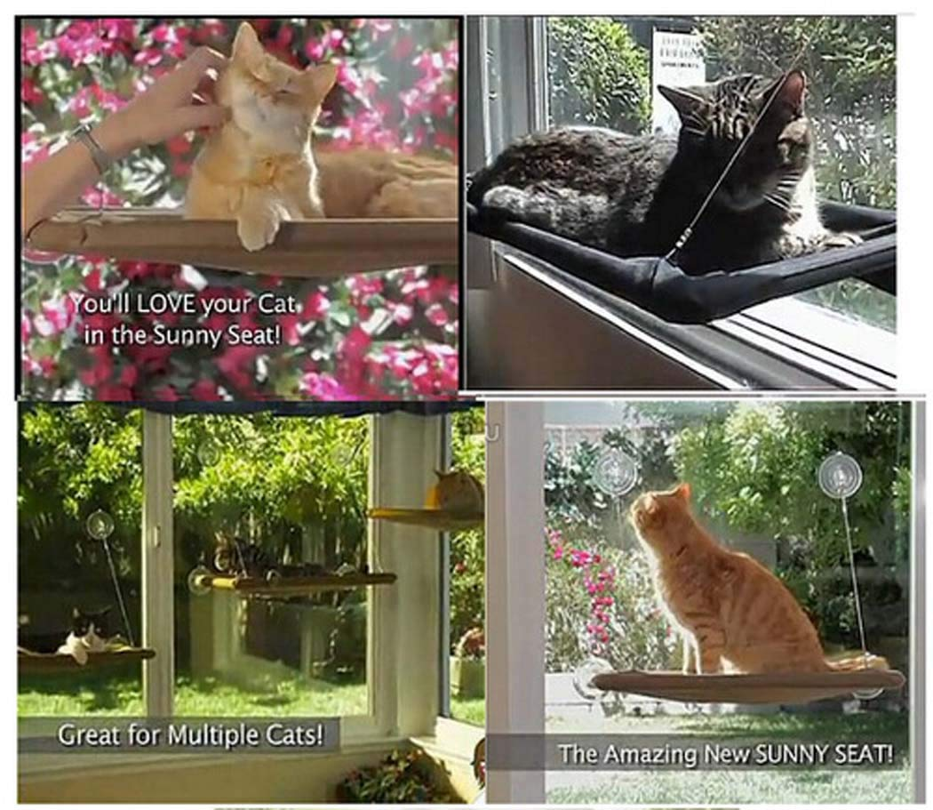 5535cm Cat Window Perch, Cat Hammock Window Seat, Space Saving and Safety Window Mounted Cat Bed for Large Cats, cat Bed Window,55  35cm