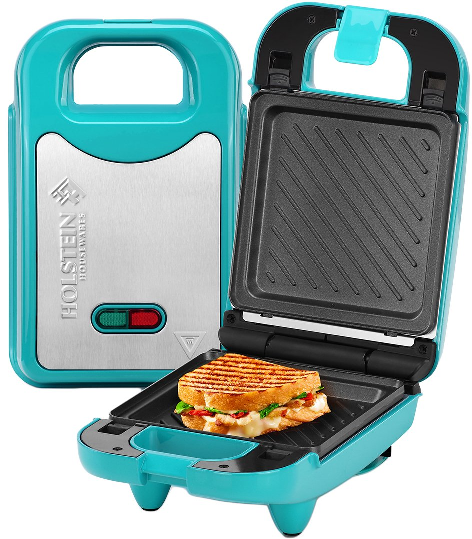 Holstein Housewares HH-09125008E Multi Maker with Interchangeable Plates, Teal/Stainless Steel by Holstein Housewares