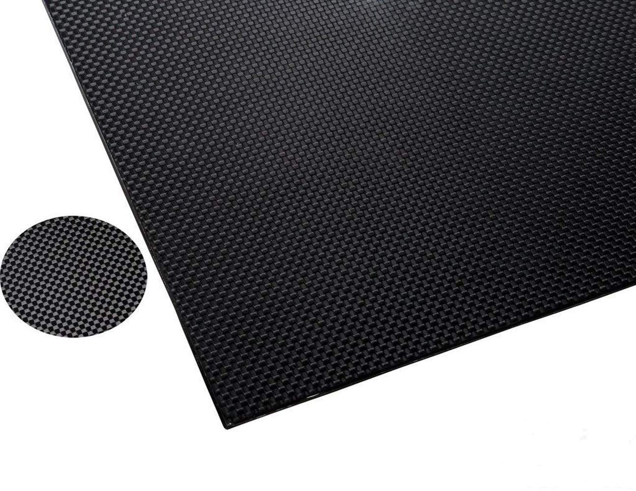 FiveEyes 500X500X2MM 100% Pure Carbon Fiber Sheet 3K Plain Weave Panel Plate(Glossy Finish) by FiveEyes