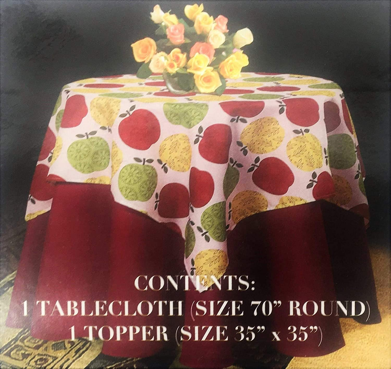 Cottage Tablecloth Large Fabric Cloth Arts Crafts Style Vintage table linens Coral White Tablecloth Arts Crafts Tablecloth