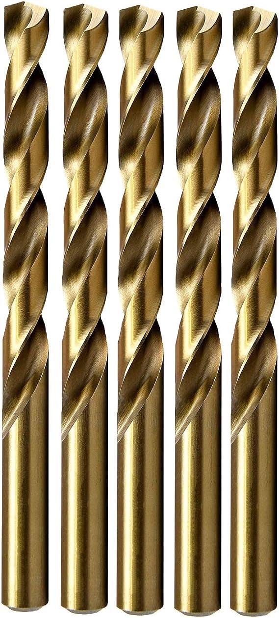MAXTOOL No 38 Dia 0.1015 Wire Gauge 2pcs Jobber Twist Drill Bit HSS M2 Fully Ground; JBN02H10R38P2