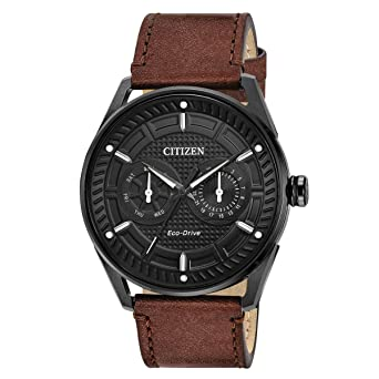 Citizen CTO Black Dial Leather Strap Mens Watch BU4025-08E