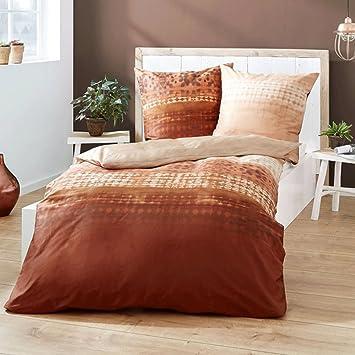 Kaeppel Feinbiber Bettwäsche Embrace Kupfer, Bettdeckenbezug: ca.140cm x 200cm, Kissenbezug: ca. 70cm x 90cm, 100% Baumwolle