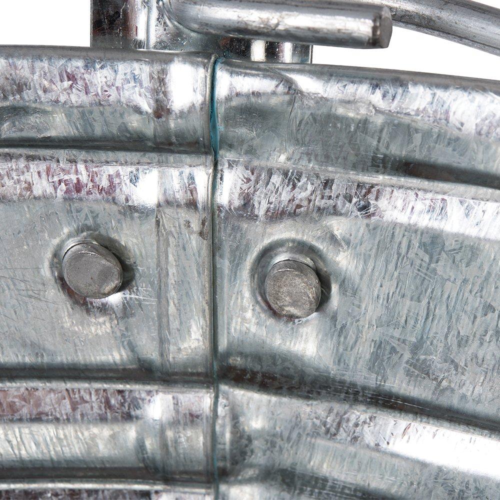 Silverline 907044 Cubos de Acero Galvanizado 14 Litros Caja de 3