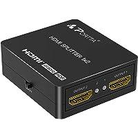 PORTTA HDMI Splitter 1 In 2 Out 4K 60Hz, HDMI Splitter 1x2 met automatische scaling 4K 60Hz 4:4:4 4:2:2 4:2:0 to 1080P…