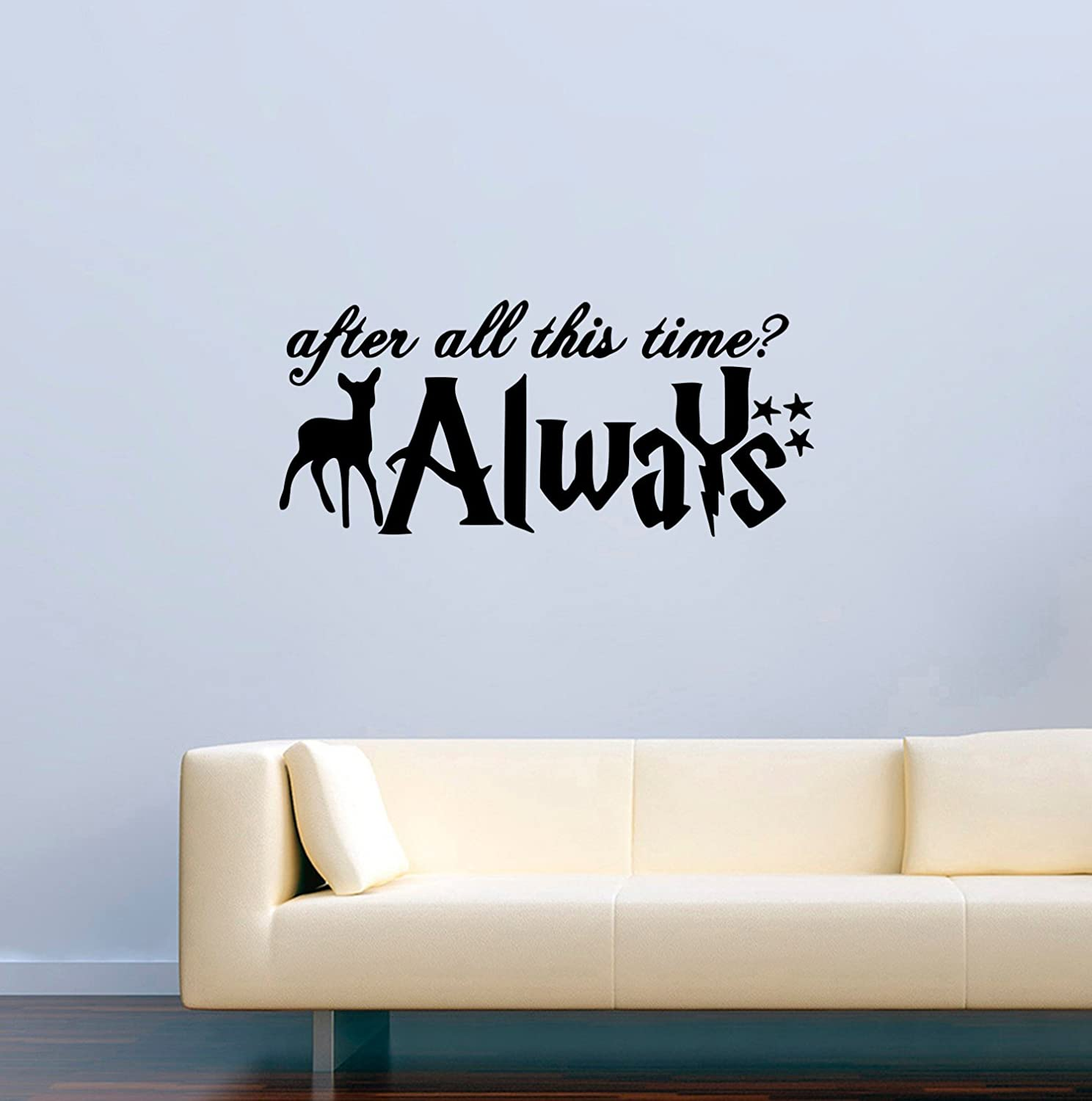 Harry Potter Wall Decals Severus Snape Patronus and Quotes After All This Time Always Decor Stickers Vinyl MK3719