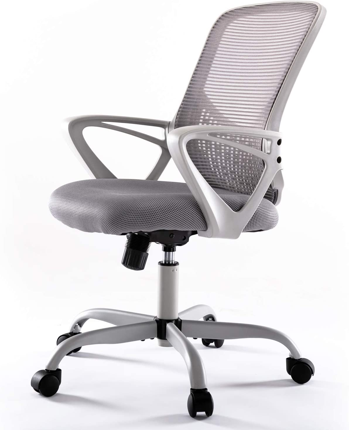 Office Desk Chair, Mid Back Lumbar Support Computer Mesh Task Chair, Grey