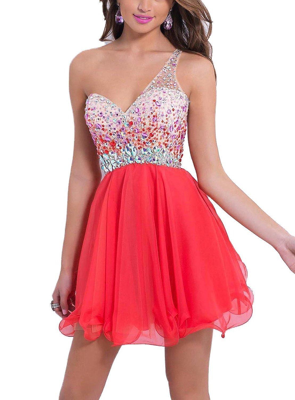 SI PEI Sexy Bead Prom Mini Backless Chiffon Sweetheart Cocktail Dress