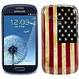 kwmobile Hardcase Hülle für Samsung Galaxy S3 Mini i8190 mit Flagge USA Design - Hartschale Backcover Case Schutzhülle Cover in Blau Weiß Rot