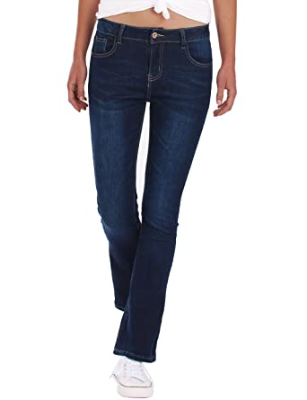 a3155005f73e Fraternel Damen Jeans Hosen Bootcut normal waist stretch  Amazon.de   Bekleidung
