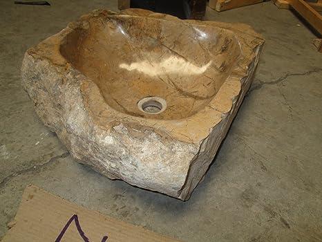 N17 50x45 h16 Lavandino in pietra di marmo indonesiano per bagno ...