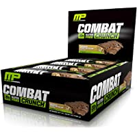 MusclePharm Combat Crunch Protein Bar, Chocolate Peanut Butter Cup, 12 Bars