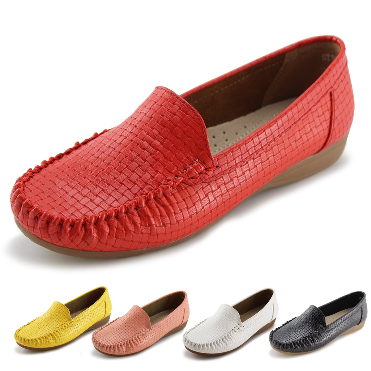 Jabasic Women's Slip-on Loafers Flat Casual Driving Shoes ST2191