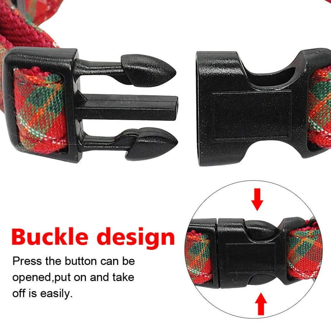 Dog Collar | Dog Bow Ties | Dog Collar | Pet Gift | Pet Collar | Handmade Dog Bowtie | Red Colour |Collar Length 14