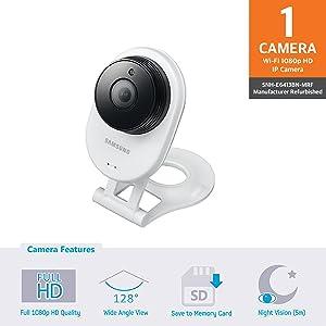 e3c8ce930cb Samsung SNH-E6413BN SmartCam HD WiFi IP Camera with 16GB micro SD Card  (Renewed