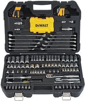 142-Piece Dewalt Drive Polished Chrome Mechanics Tool Set