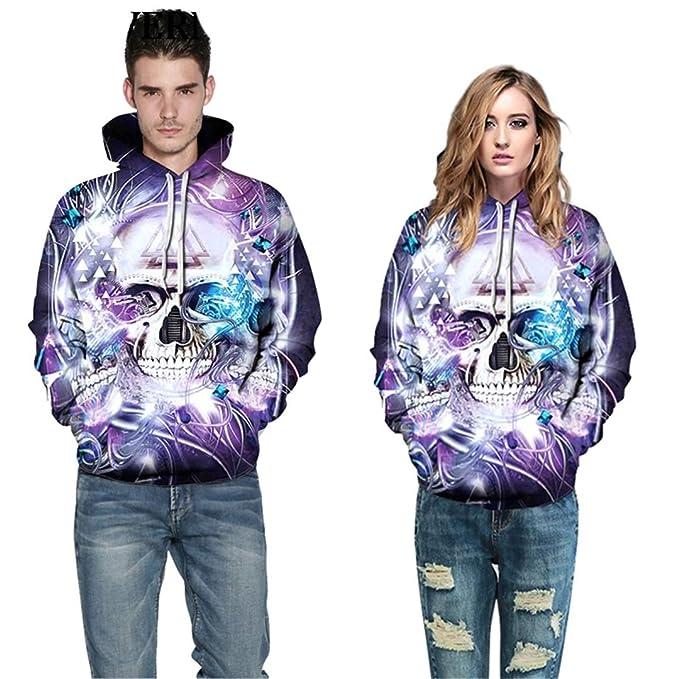 Amazon.com: Purple Shining Skull Hoodies Floral 3D Hoodie Sweatshirt Pullover Tracksuit Men Women Hooded Tops: Clothing