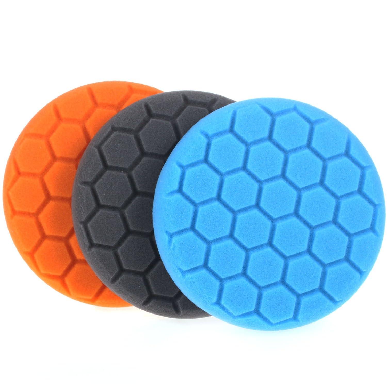 ZFE 3 Teiliges Hexagon 150mm Profi Polierschwä mme Polierschwamm Pads Wachs Schwä mme Sets fü r Poliermaschine