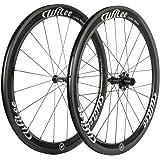 Wilee Bike Carbon Fiber Road Bike Wheels 700C 50mm Glossy 23 width Clincher Carbon Wheelset
