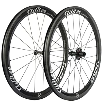 Wilee Bike Carbon Fiber Road Bike Wheels 700c 50mm