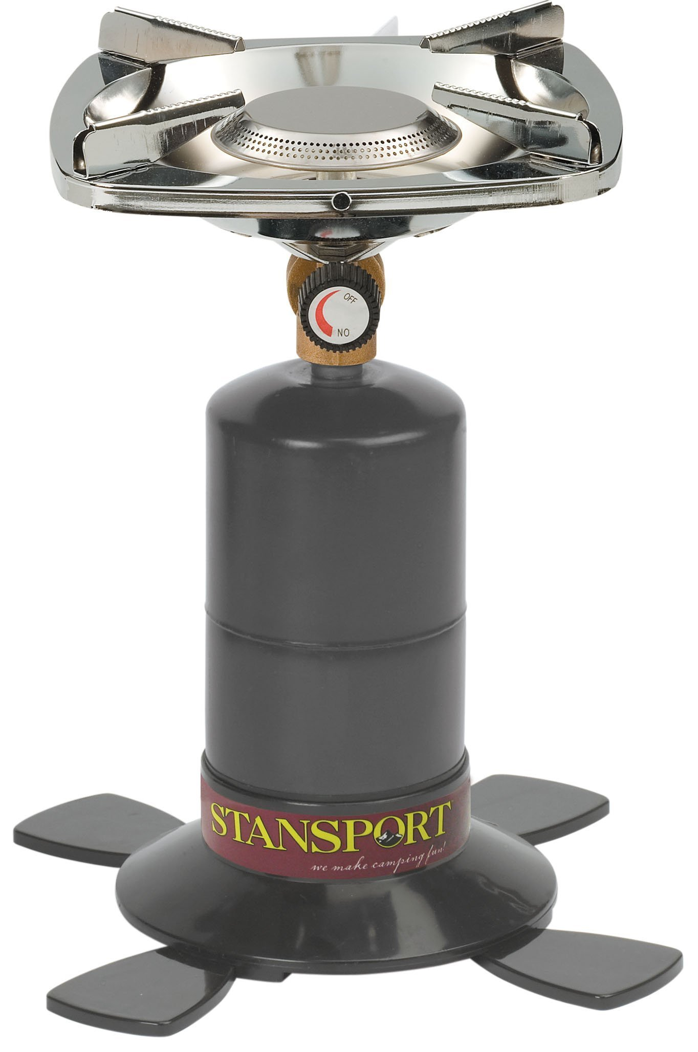Stansport Single Burner 10,000 BTU Propane Stove, Black