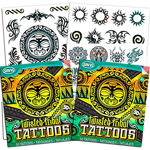 Tribal Tattoos Assortment ~ 2 Bags ~ 100 Assorted Designs