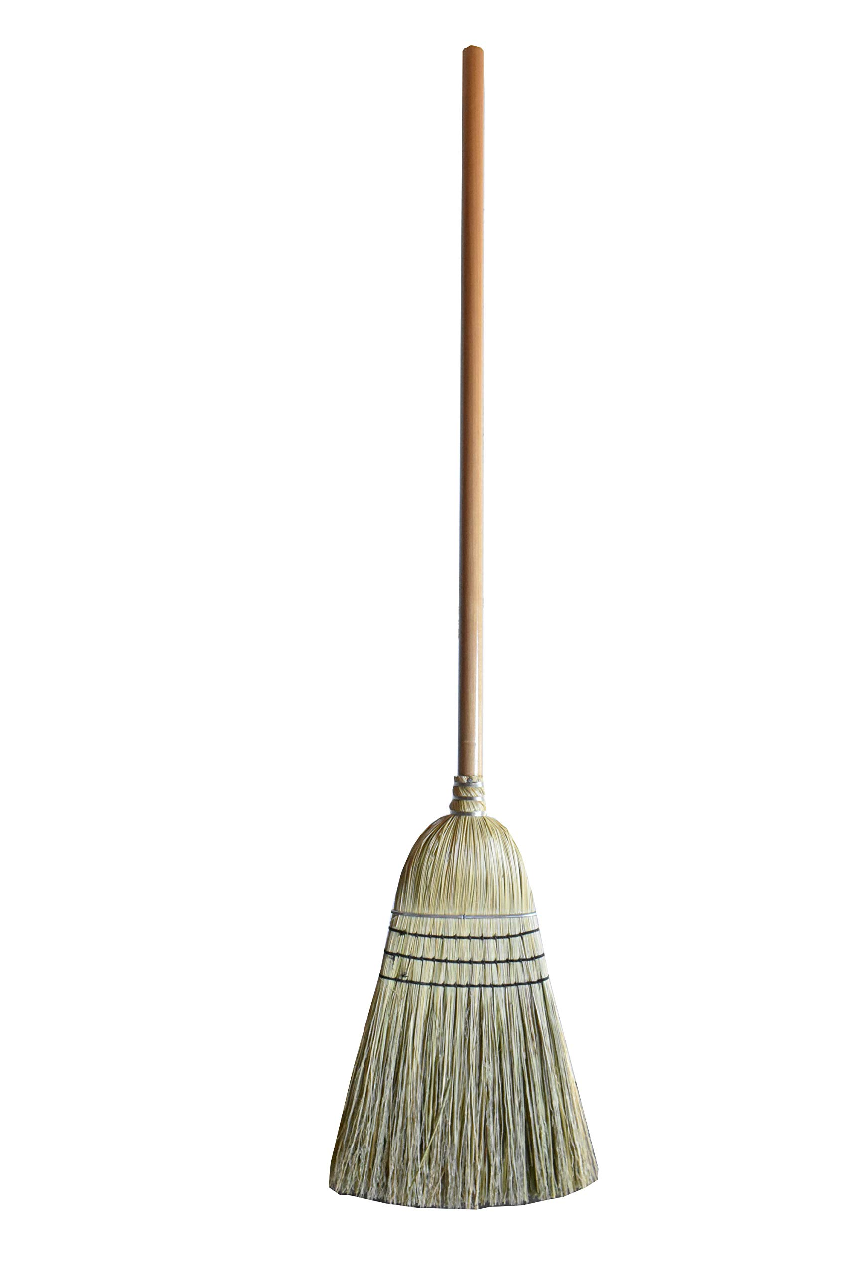 6 Pack Corn Straw Warehouse Broom for Sweeping Cleaning by a32 (Image #1)