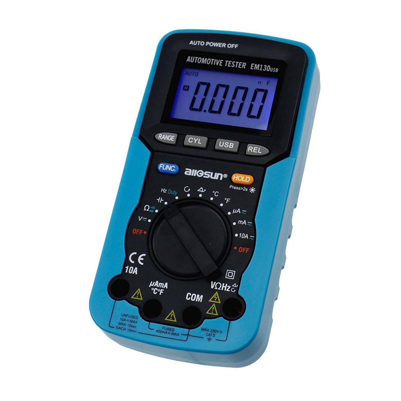 Dig dog bone USB digital multimeter car dedicated dwell angle/rotation number/voltage/current, resistance/capacitance/frequency/duty cycle EM130 by Dig dog bone (Image #3)