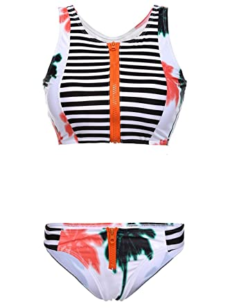 32f615a66a2c1 Amazon.com: Sanksk Sexy hot Women's Coconut Tree Print High Waist Bikini  Set Bathing Suit 2 Piece Swimsuit Charming: Clothing