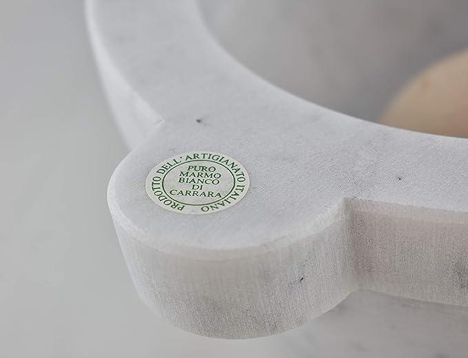 Mortaio in Marmo Bianco di Carrara con pestello