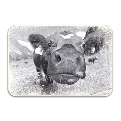 Marvelous Amazon Com Wyiou Funny Dairy Cow Rug Non Slip Living Home Interior And Landscaping Ferensignezvosmurscom