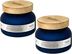 Better Homes and Gardens 18oz Scented Candle, Blue Fern and Citrus 2-Pack