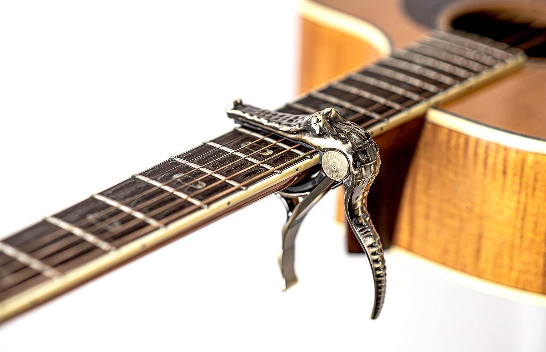 Silenceban oro amarillo Crocodile trigger capo El guitarrista ...