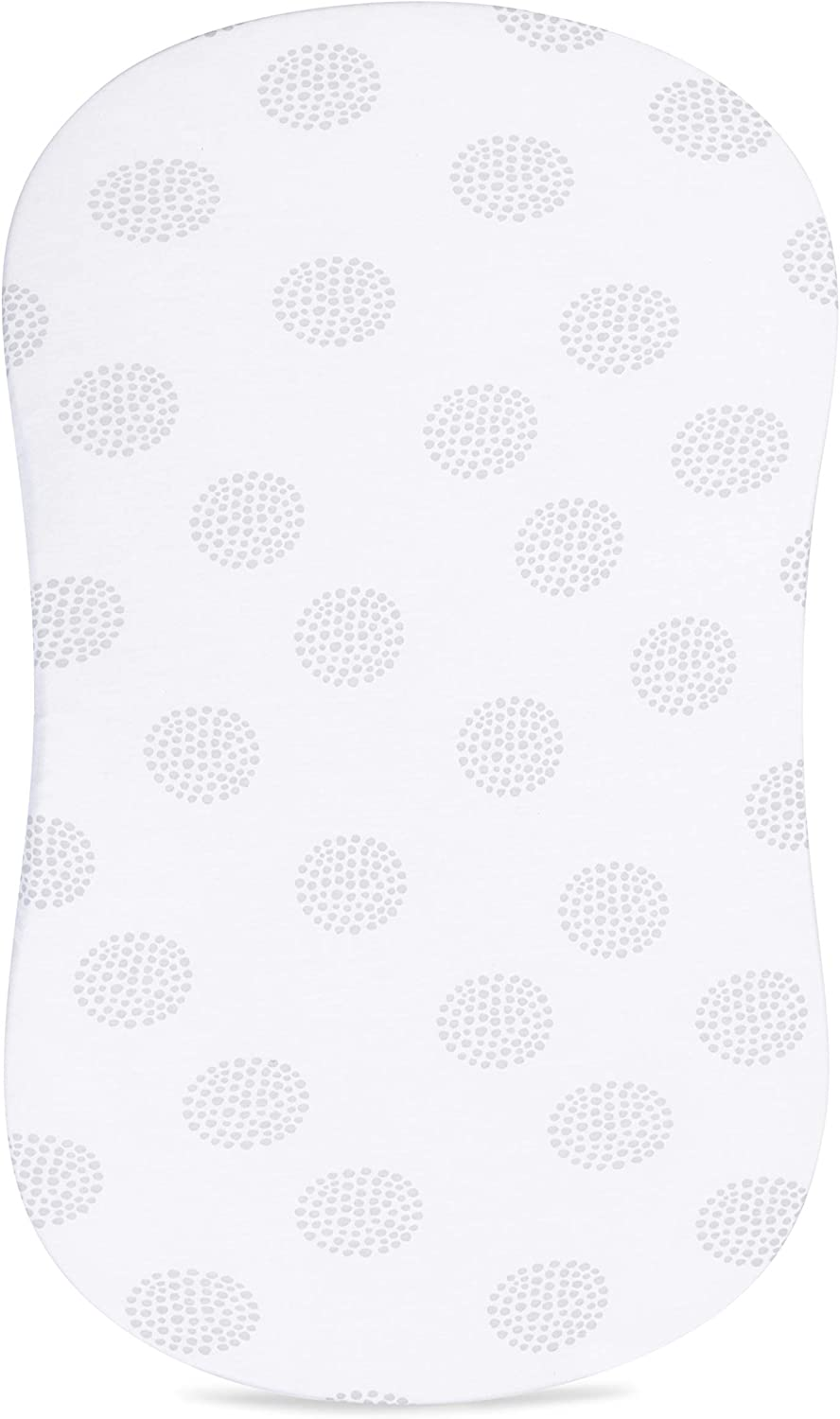 Bassinet Sheet 2-Pack Combed Jersey Cotton for Baby Boy or Baby Girl Elys /& Co Grey Dottie