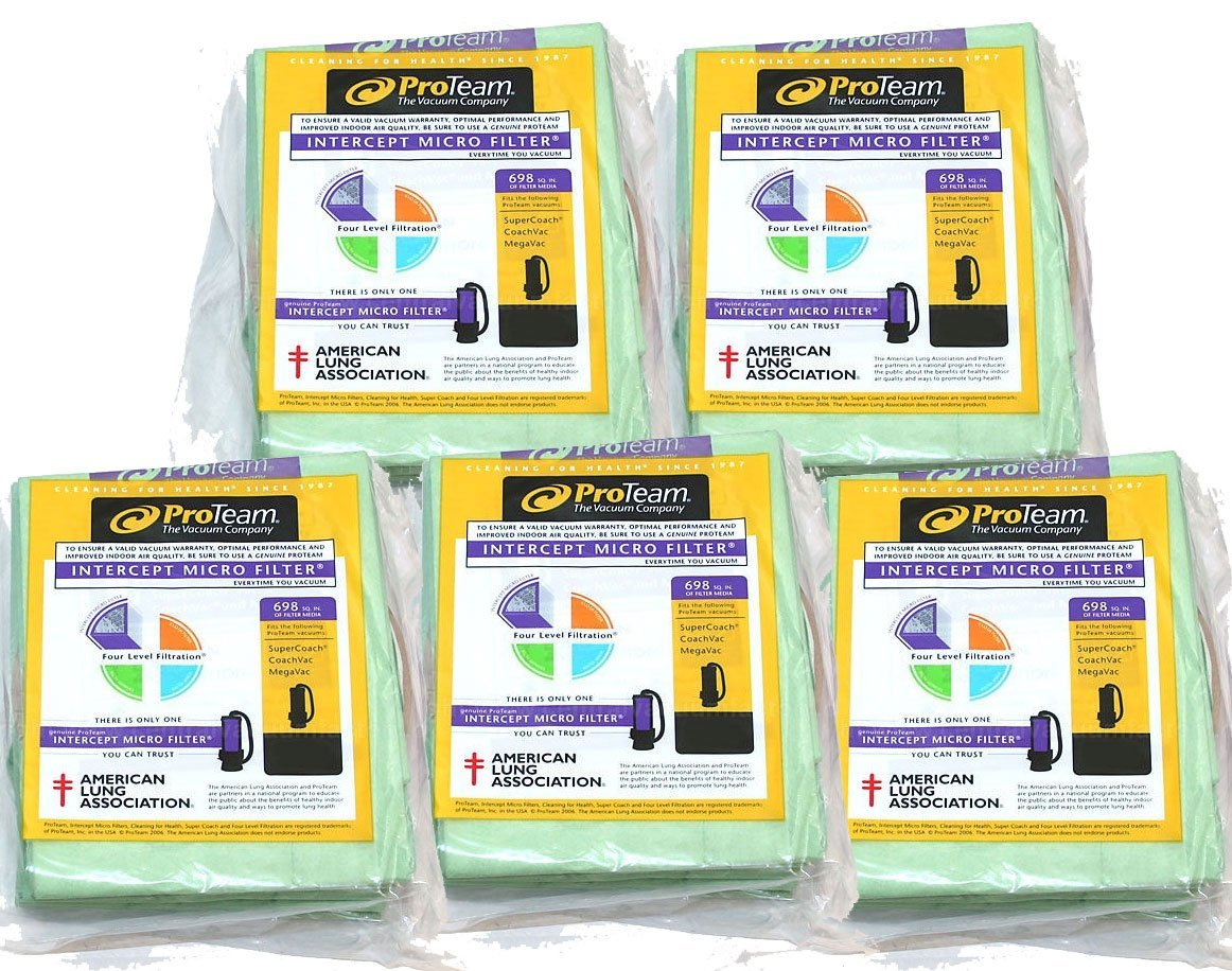 ProTeam 10 qt Backpack Bags - 5 Pack Bundle (100331)