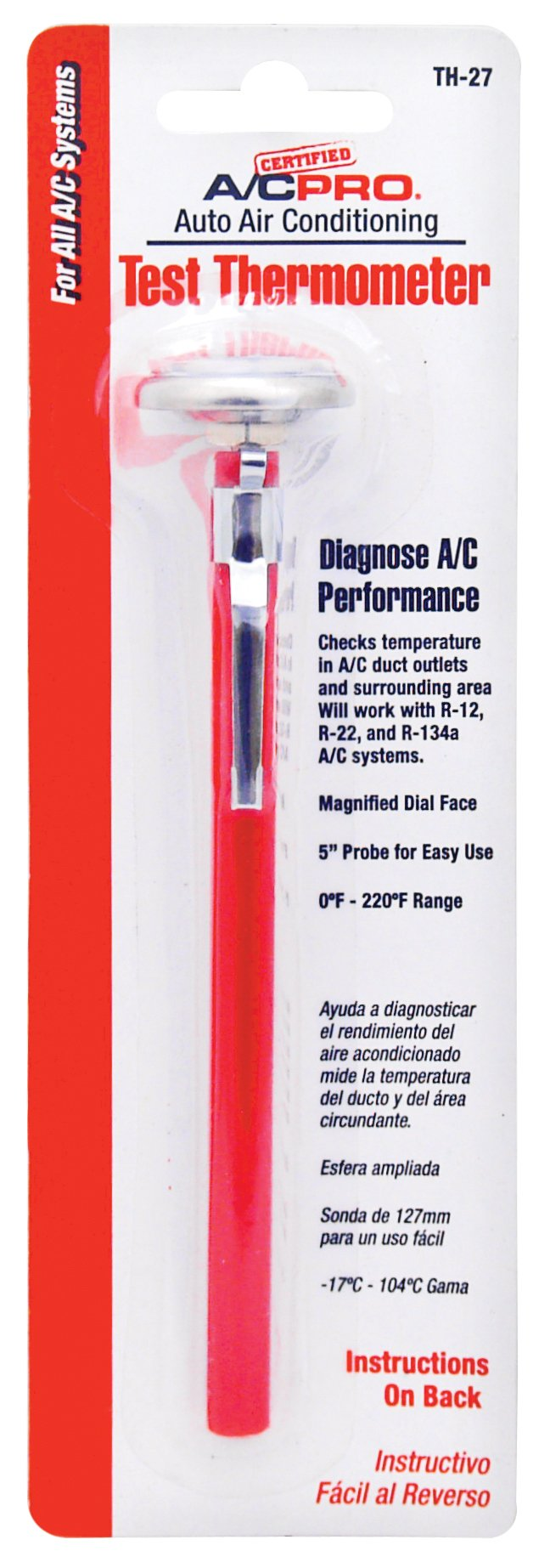 Interdynamics Certified A/C Pro Auto Air Conditioning Test Thermometer