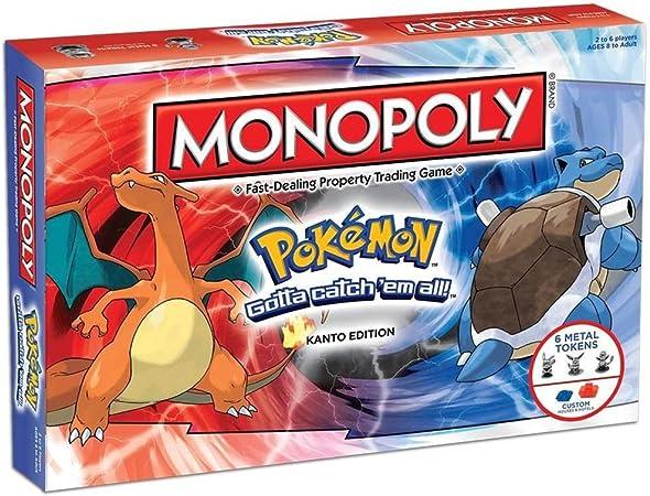 YML Los Juegos de Mesa Monopoly Pokemon Monopoly Adultos de la Familia de Tarjetas Super Puzzle Partido reunión Familiar para Las Edades de 8 y para Arriba (versión clásica): Amazon.es: Hogar