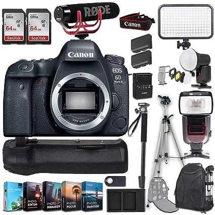 Amazon com : Canon EOS 6D Mark II DSLR Camera (Body Only) +