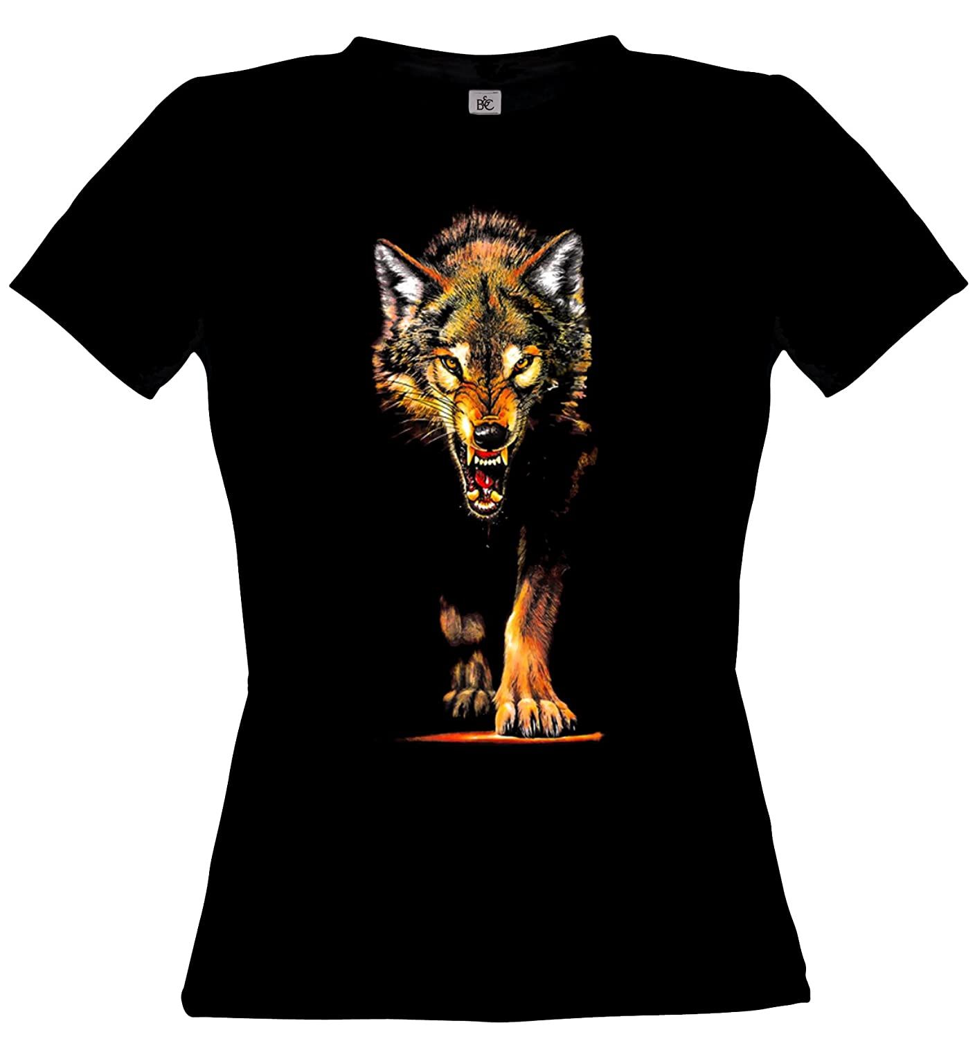 Amazon.com: Ethno Designs Wildlife - Wolf - Predators - Womens Wolves T-Shirt - Animal Print - Slim Fit: Clothing