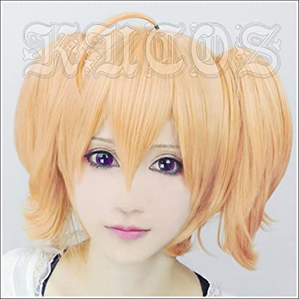 LanTing Cosplay Peluca Aria the Scarlet Ammo Double A Orange 2 Clip Cosplay Party Fashion Anime
