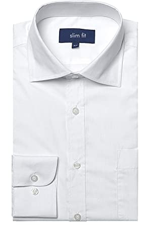 27bb2b7da26 FLY HAWK Mens Cotton Blend Casual Button Up Slim Fit Collared Formal  Shirts