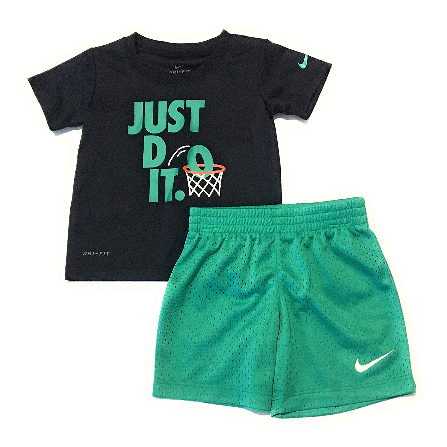 Nike Infant Boys Just Do It T-Shirt and Shorts Set Obsidian 18 Months