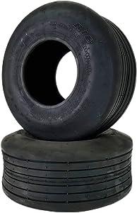 DEESTONE 15x6.00-6 Rib Smooth Lawn Tire Set of Two Hay Tedder