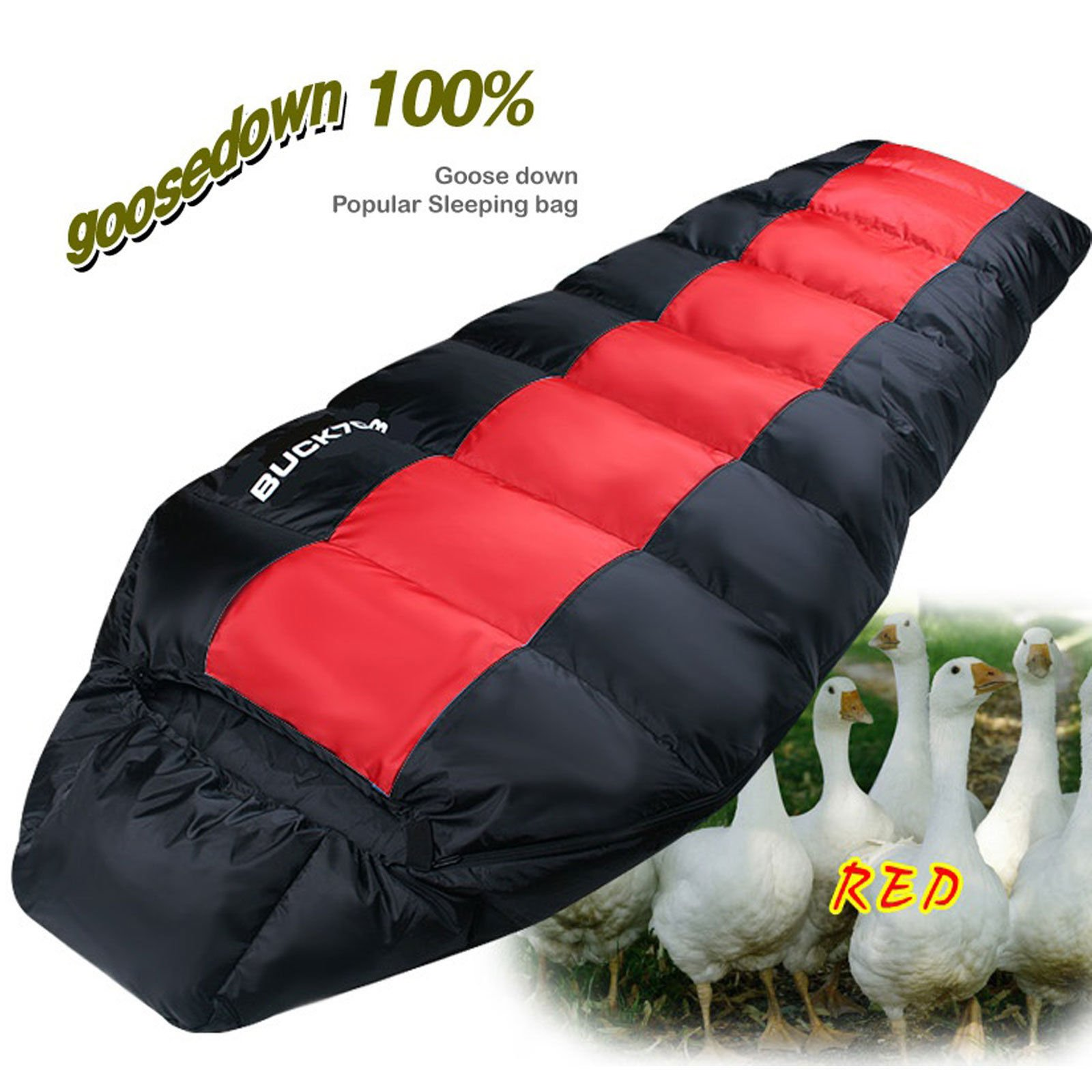 Popular Goose Down Sleeping Bag 4Season Mummy Camping Backpacking Compact Winter by Sleeping Bag